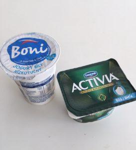Bílé jogurty bez tuku