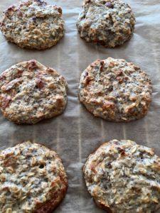 Ovesné cookies upečené