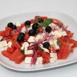 Melounový salát se sýrem feta