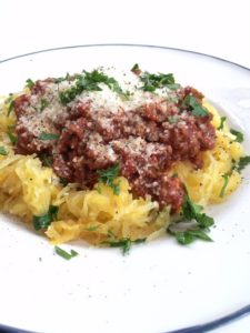 Špagety z dýně s omáčkou
