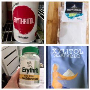 Xylitol a erythritol