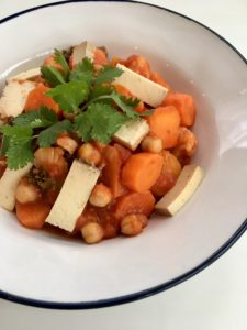 Zeleninové stew s tofu