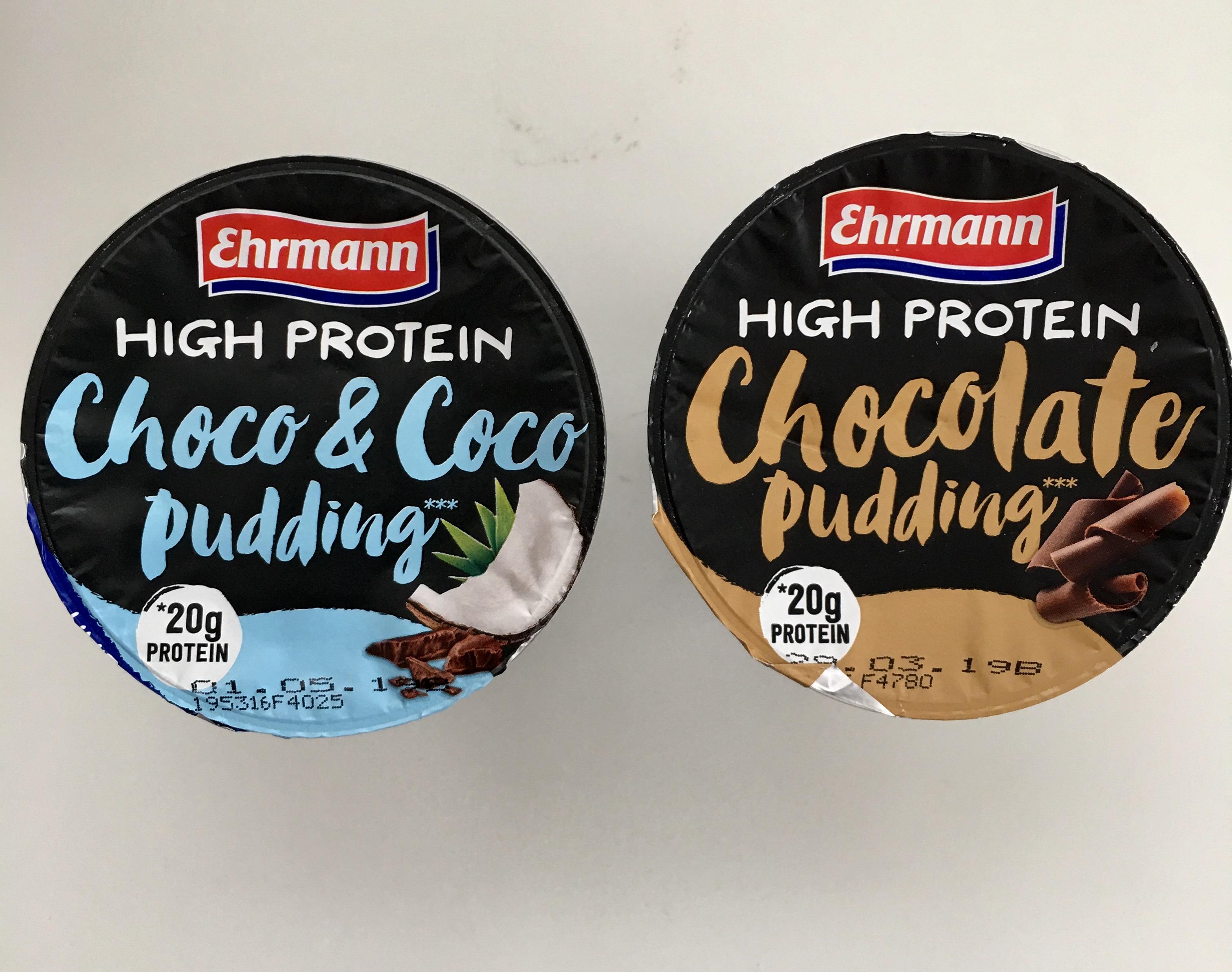 High protein pudding ehrmann