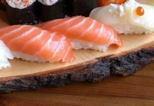 Sushi a hubnutí nigiri