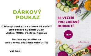 Dárkový poukaz na stažení e-booku 55 večeří pro zdravé hubnutí 2020