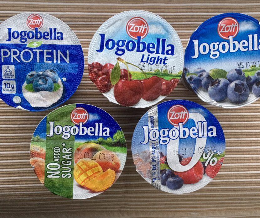 Test ovocných jogurtů Jogobella