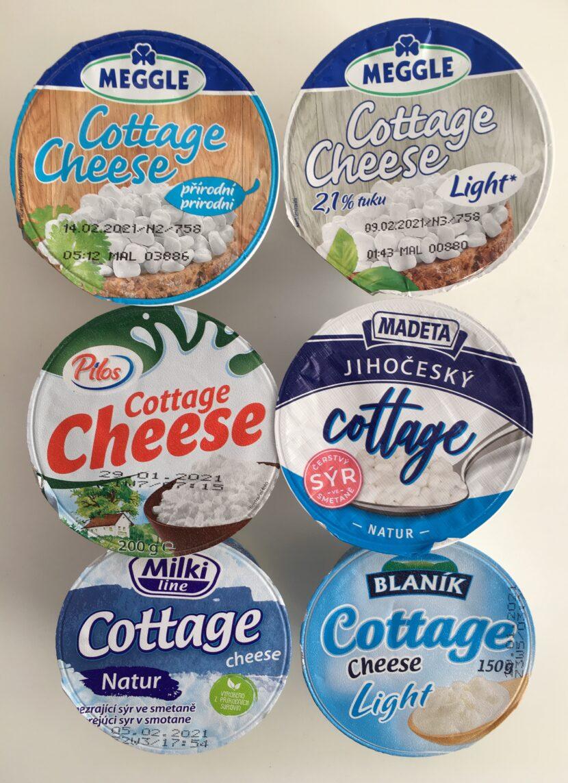 Test sýrů cottage