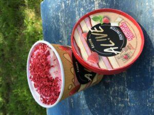 High protein zmrzlina malinový cheesecake